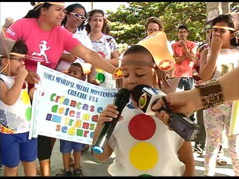 [JORNAL DA TRIBUNA] Crianças usam cordel para orientar motoristas