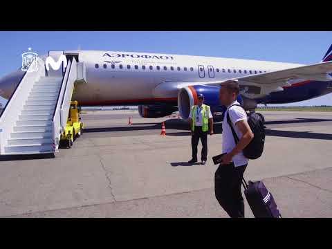 La salida de la Selección Española de Fútbol desde Krasnodar y llegada a Sochi