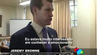 Acontece na UFRGS - Visita do Ministro Britânico