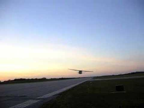 aaronfmiguel - A cessna 182rg flying low.