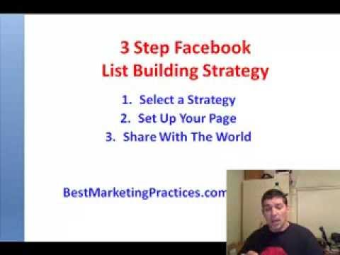 Facebook List Building Part 2 – Simple 3 Step Process