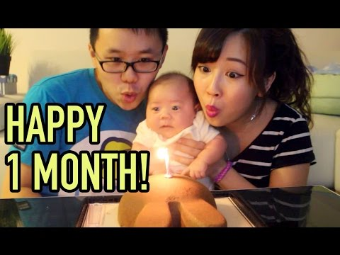 happy - Hello YT Family, Today's Vlog: Happy 1 month!!! Wrong nipples, Passed down from daddy, Testing new miracle mask? WHY ME? We can't believe that Isaac is 1 month old already. He's getting...