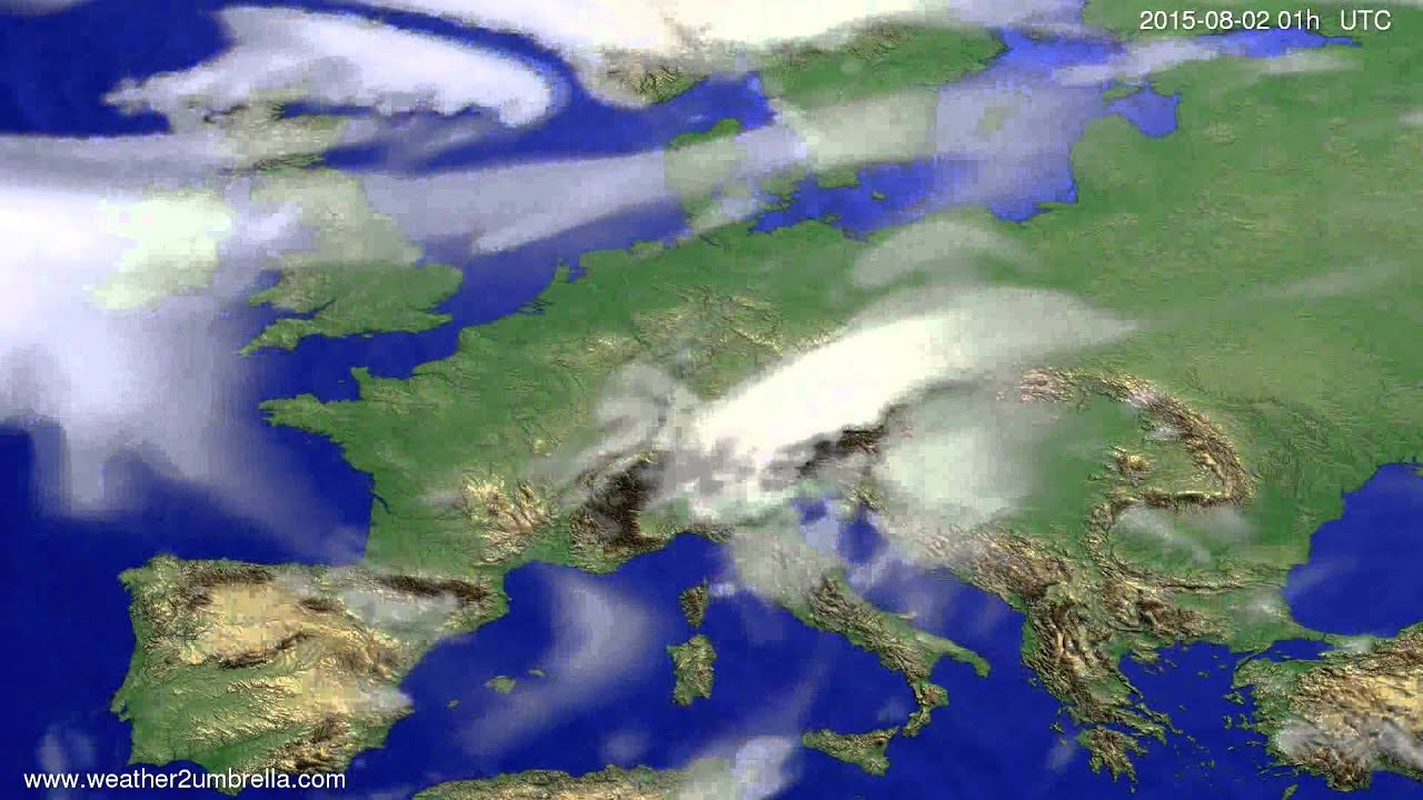 Cloud forecast Europe 2015-07-29