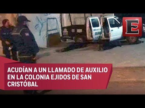 Asesinan a tiros a cinco policías de Ecatepec