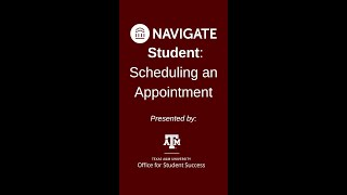 Navigate Student: Scheduling an Appointment