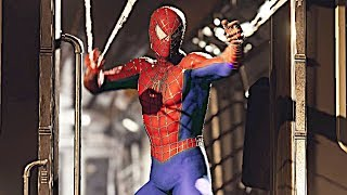 SPIDER-MAN PS4 Stopping The Train Scene With Sam Raimi Suit (SPIDERMAN PS4)
