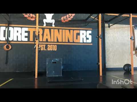 Hoje o treino começa com uma série de core onde envolve pranchas e exercícios auxiliares para ginástica. Logo em seguida um treino metabólico chamado Chipper. Aonde você tem  uma lista de exercicios a executar apenas uma vez.