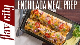Here is my epic recipe for beef enchilada meal prep that you will be happy to eat every day next week! This enchilada recipe is filled tender beef, tons of flavor, and super cheesy. This easy meal prepping is full of flavor and perfect for beef meal prep. These enchiladas for meal prepping are really easy to make and stay in the fridge for meal prep for the week. RECIPE & STORAGE INSTRUCTIONS: https://goo.gl/DJk4aJSUBSCRIBE: http://goo.gl/pWpsoqMacros: 308 calories per single enchilada20.8 grams of fat per single enchilada27.5 grams of protein per single enchilada27.2 grams of carbs per single enchilada2 grams of fiber  per single enchiladaGET THE KITCHEN GEAR I USE:cast iron pot: http://amzn.to/2vinPqLoil splatter guard: http://amzn.to/2iowHaLget my t-shirt: http://tidd.ly/96ada2b7glass meal prep containers: http://amzn.to/2neLNQYmy wood cutting board: http://amzn.to/2tMkv9Zmetal tongs: http://amzn.to/2up6TCQoil dispenser: http://amzn.to/2iTIfULNew Videos Every Friday!Follow Me On Social Media:Facebook: https://www.facebook.com/flavcityInstagram: https://www.instagram.com/flavcitySnapchat: flavcityTwitter: https://www.twitter.com/flavcityI'm out to prove that home cooks can be rock stars in the kitchen. I look forward to sharing my recipes & cooking style with you on my channel!Music from Audio Network