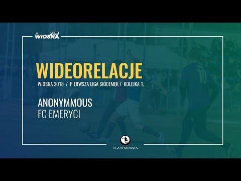 LIGA BEMOWSKA / WIOSNA 2018 / KOLEJKA 1. / ANONYMMOUS - FC EMERYCI