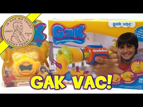 gak - Get This Item From the Lucky Penny Shop! http://luckypennyshop.com/nickelodeon-gak-vac/ Watch more Nickelodeon Toy Videos: http://www.youtube.com/playlist?li...