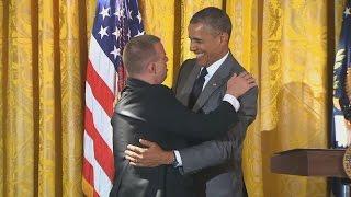 President Obama Hug