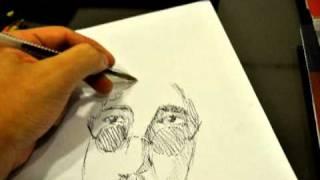 Felipe Cachopa desenhando Raul Seixas. http://felipecachopa.blogspot.com/