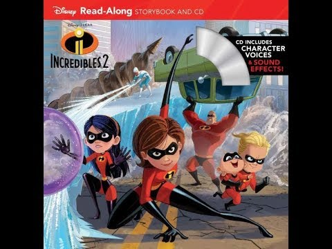 Disney Pixar INCREDIBLES 2 Read Along Aloud Story Audio Book with Character Voices Sound Effects