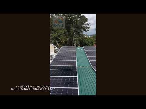 Chi Nhánh Khải Minh Solar Thi công 10kw điện năng lượng trời cho ks 3 sao Moonstone