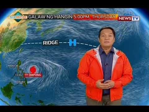 Mahigit 30 lugar sa Luzon at Visayas, nasa ilalim ng storm signal number 1 dahil sa bagyong Ompong_Best spacecraft videos of the week