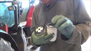 9. changing a fuel filter on a McCormick CX95 tractor Part 1