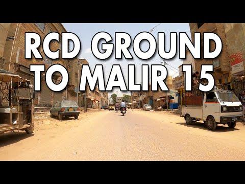 RCD GROUND MALIR TO MALIR 15 STREET VIEW DRIVE - Karachi City Street View 2020 - 4K HD