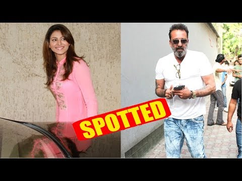 Urvashi Rautela Spotted At Sanjay Dutt House