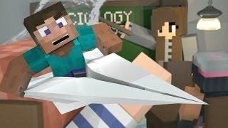 "Minecraft   TINY BIG CRAFT! Tiny Modded Survival - ""TINY MAN FLYS PAPER AIRPLANE"" #2"