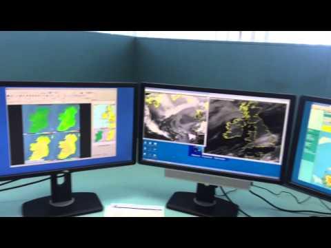 Quick inside view of Met Eireann's forecasting room