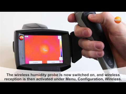 testo 875i - Step 14 - How to Use the wireless humidity prob