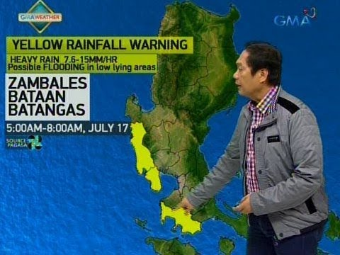 UB Weather update as of 552 a.m. July 17, 2018