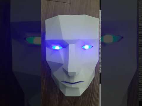 포디믹스 가면 출력 후 led 사용 테스트
