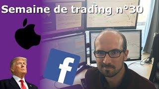 Semaine de Trading n°30 – FACEBOOK perd 100 Mds $, APPLE en tête pour la course aux 1000 Mds $