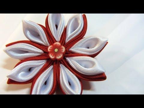 Tutorial: Flores Kansashi. Kansashi flowers.