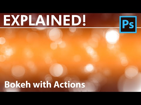Video Photoshop Tutorial - How to create a Bokeh Background with Actions download in MP3, 3GP, MP4, WEBM, AVI, FLV January 2017