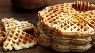 Homemade Waffles Recipe by Home Cooking Adventure