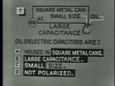 Capacitors - CAPACITORS - Department of Defense 1964 - PIN 39987 - DEFINES ELECTROSTATIC FIELD AND DIELECTRIC. DESCRIBES AIR, PAPER, OIL, ELECTROLYTIC, AND CERAMIC TYPE C...