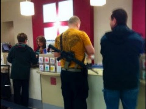 Armed Man Shops at JCPenney with Rifle & Glock Video