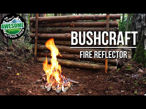 Bushcraft - Making a Fire Reflector the easy way | TA Outdoors