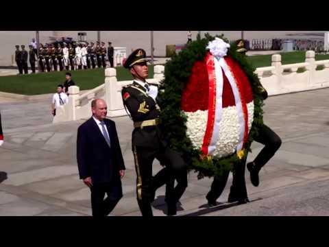 Chine : le Prince Albert II reçu par Xi Jinping