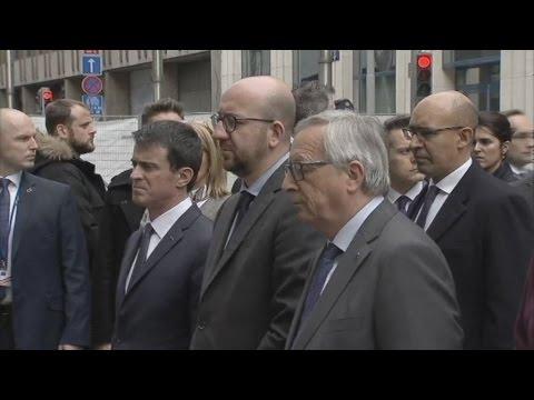 Εκδηλώσεις πένθους στις Βρυξέλλες