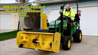 7. John Deere 2305 and 47 Blower with Merit Automation Chute Control