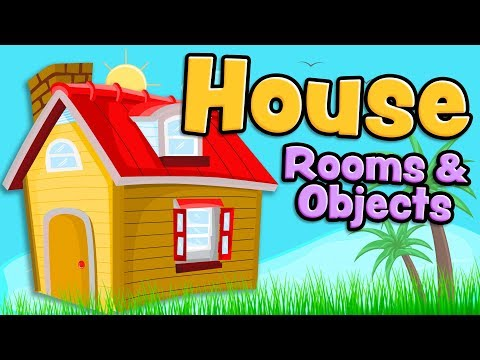 House rooms and objects in English for kids