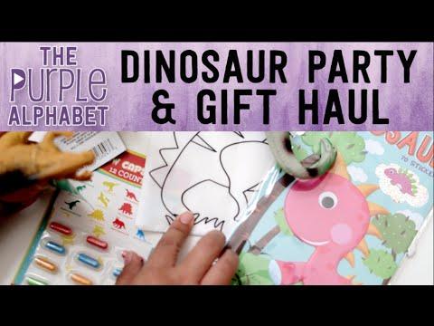 3 Yr Old Dinosaur Birthday & Gift Haul