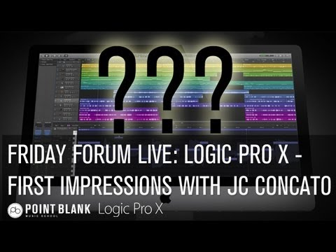 Friday Forum Live! Logic Pro X: First Impressions – Part 2 with JC Concato – 19.07.13