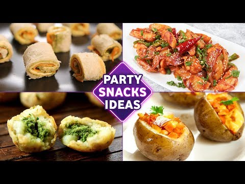 Party Snacks Ideas | 4 BEST Starter Recipes For Parties | Starters / Appetizers / Snacks Recipes
