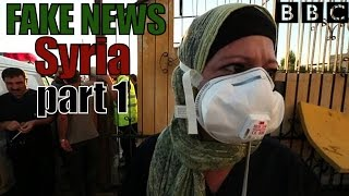 "The BBC fakes a ""chemical/napalm attack"" for TV propaganda. MSNBC/CNN/FOX, all blame Assad for al-Nusra rebels gassing..."