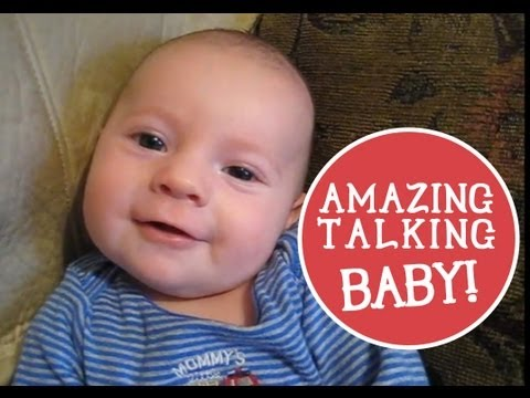 2 month old Baby Talking: Says I Love You! (видео)