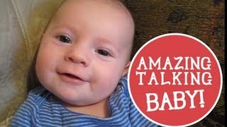 2 Month Old Baby Talking: I Love You! <3