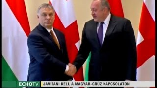 A gazdaságban is kamatoztatni kell a jó magyar-grúz kapcsolatokat - jelentette ki a miniszterelnök Tbilisziben. Orbán Viktor több tárcavezető és egy üzleti ...