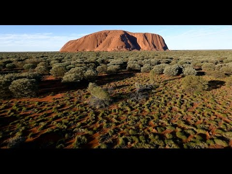 A Drone sEye View of Uluru Amazing