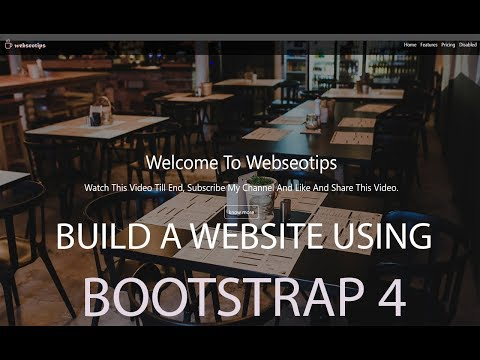 Bootstrap 4 Website Built From Scratch In 1 Hour With Code