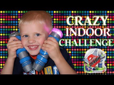 CRAZY FUN Indoor Racing CHALLENGE!  Parents VS Kids || Family Game Night (видео)