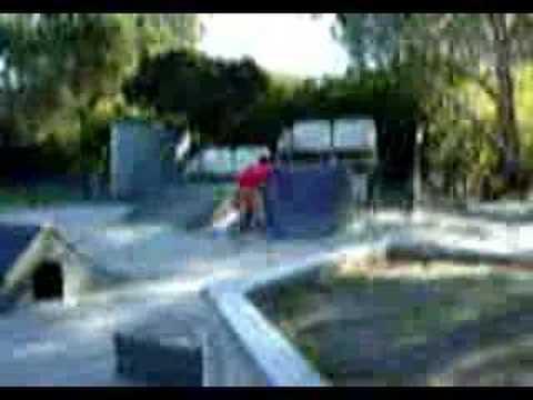 Nick Spinner BMX 540 corte madera skatepark