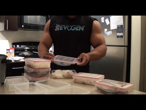 meal - A video on how to prep your meal like a bodybuilder. Jonathan's Fanpage: http://www.facebook.com/jonizzyfit Jonathan's Youtube: http://www.youtube.com/pricos...